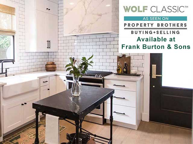 Wolf Classic cabinets are available from Frank Burton & Sons.