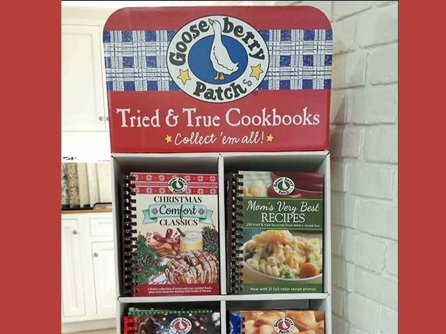 Burton's now has Gooseberry Patch cookbooks