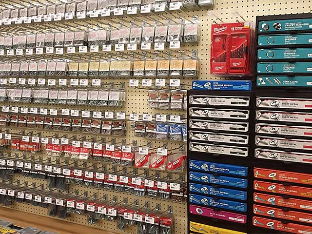 Burton's has a new screw and anchor hardware section!