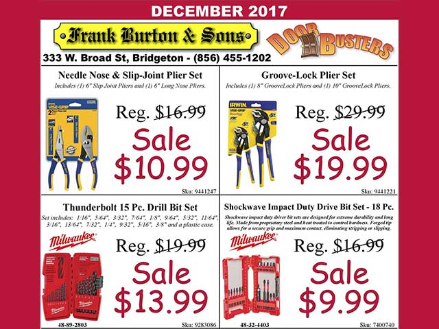 Burton's December Door Busters