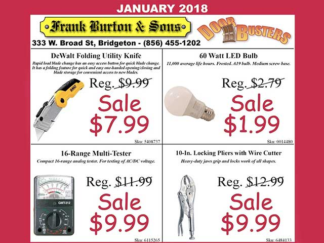 Burton's January Door Busters