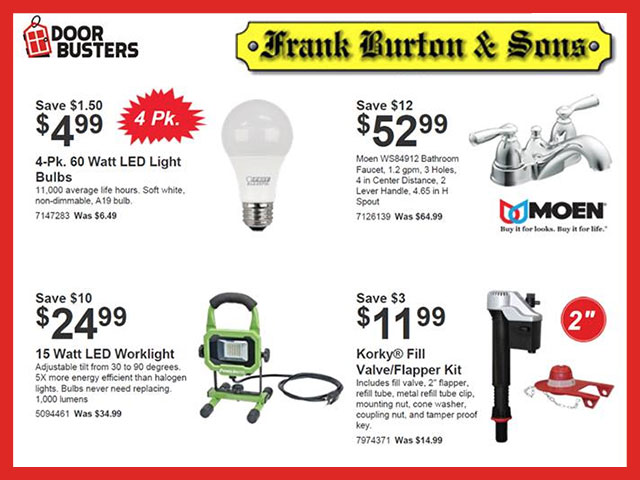 Burton's April Door Busters
