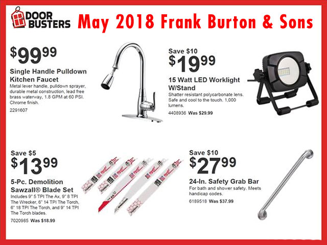 Burton's May Door Busters