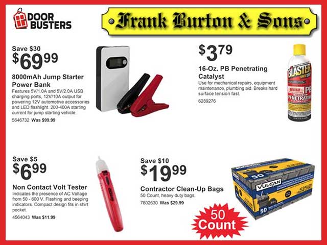 Burton's June Door Busters