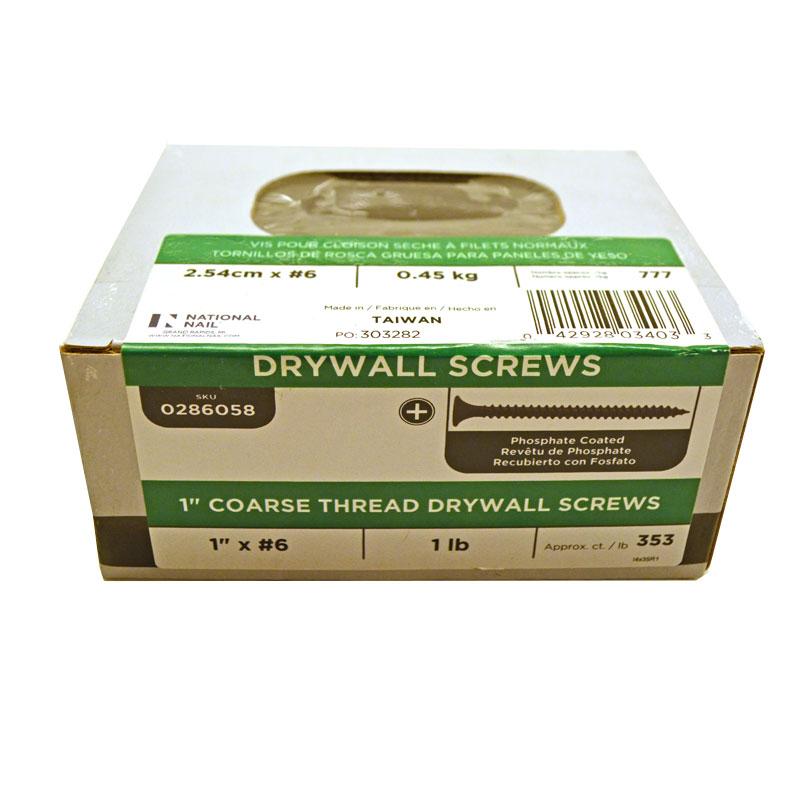 1 in drywall screws